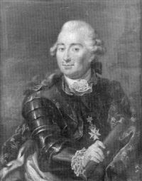 portrait de militaire portant l'ordre de malte by marcello bacciarelli