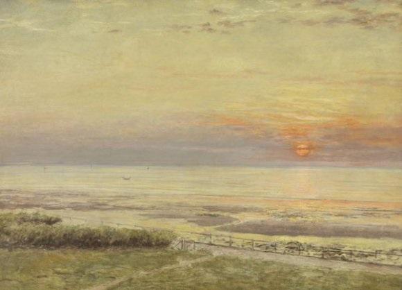 le chemin des douaniers soleil couchant by marie françois firmin girard
