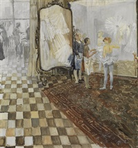 dressing room at the bolshoi by yuri (georgiy) ivanovich pimenov