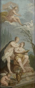 la toilette de vénus (pair) by etienne jeaurat