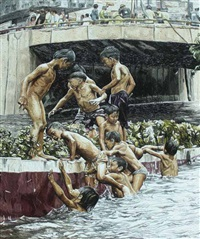 recto underpass:swimming, it's more fun in the philippines by jaypee samson