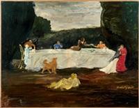 le repas dans un paysage by jean louis boussingault