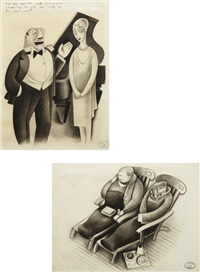 two works: (i) introduction: the singer; (ii) midday siesta at sea by miguel covarrubias