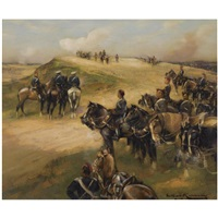 the royal horse artillery in action by william kennedy