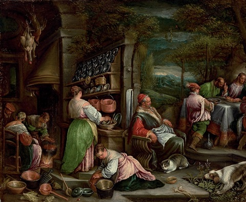 the supper at emmaus by jacopo dal ponte and francesco bassano