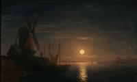 moonlight over the dnieper by ivan konstantinovich aivazovsky