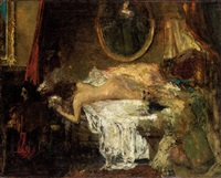 臥女圖 (nude) by alfred théodore joseph bastien