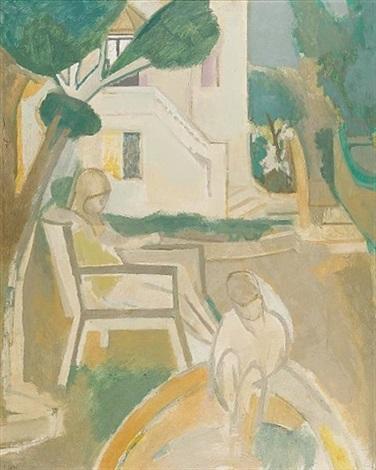 figures in a garden by françoise gilot