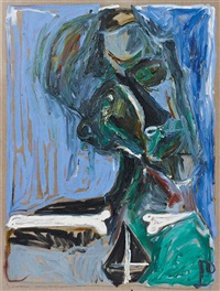 self portrate with bones by billy childish