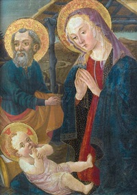 the holy family by master of san miniato