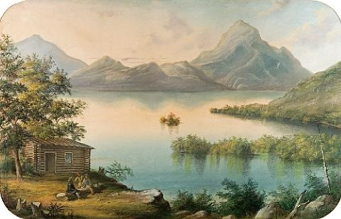 the owls head lake memphramagog by alfred worsley holdstock