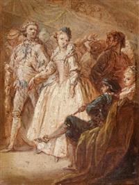 scène de bal by charles parrocel