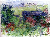 la maison à travers les roses by claude monet