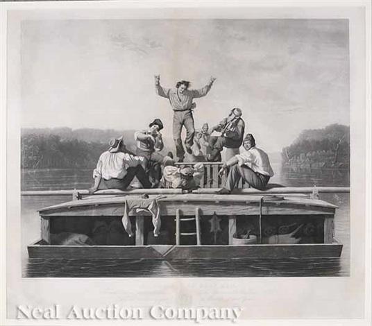 the jolly flatboatmen by george caleb bingham