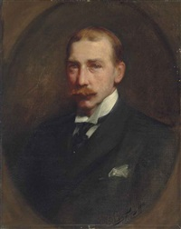 portrait of (william) lockett agnew (1858-1918), half-length by sir samuel luke fildes