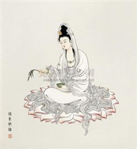红莲观音图 by jia ruifeng