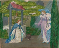 the annunciation, an illustration to longfellow's golden legend by sydney harold meteyard