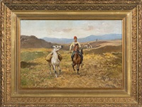 riders in steppe by tadeusz ajdukiewicz