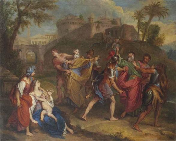 larrestation des apôtres by antoine dieu