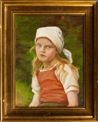 portrait fillette au foulard by emilie (caroline e.) mundt