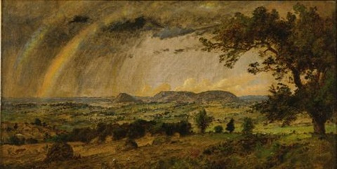 a passing shower over mts adam and eve by jasper francis cropsey