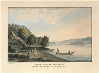 vue de l'isle de rousseau (+ another; pair) by simon daniel lafond