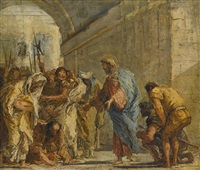 christ and the woman taken in adultery by giovanni domenico tiepolo