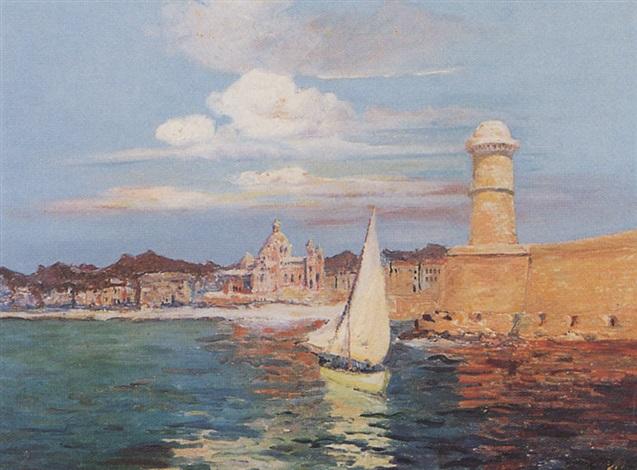 lentrée du port de marseille by francois maurice reynaud