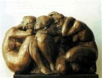trois filles en repos by jos van acker