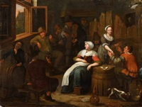 at the tavern by jan miense molenaer