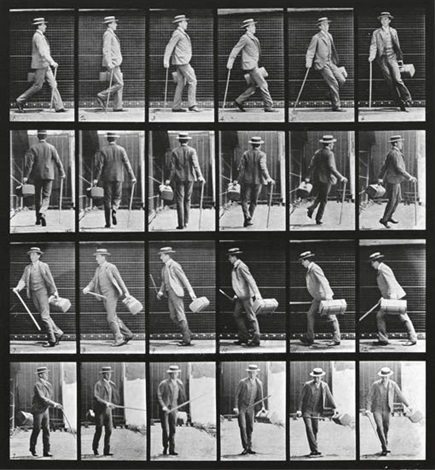 walking man from animal locomotion by eadweard muybridge
