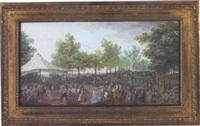 fête donnée par le duc de liancourt à madame la comtesse de rochechouart à lisieux en 1771 by olivier le may