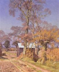 spring lane, near aldbrough by allan gwynne-jones