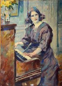femme au piano by antoine daens