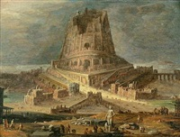 the tower of babel by jan christiansz micker