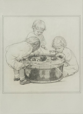 bobbing for apples by jessie willcox smith