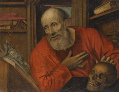 st jerome in his study by jan matsys massys