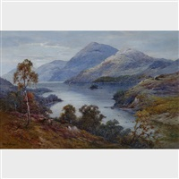 above loch earn, n.b. by alfred de breanski sr