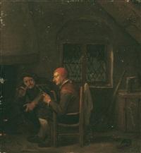 wirtsstube mit zwei männern vor dem kamin by egbert van heemskerck the elder