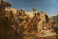 marchand d'esclaves au faubourg bab-azoun à alger by ernest francis vacherot