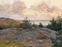cliffs by the shore by berndt adolf lindholm