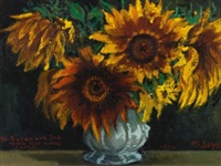 sunflowers by moses soyer