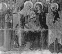 the madonna and child with saints bonaventura, anne and   joseph by ottaviano nelli
