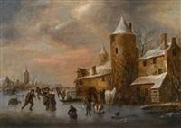 winterlandschaft by klaes molenaer