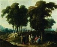 promeneurs à l'orée d'un bois by jan wildens