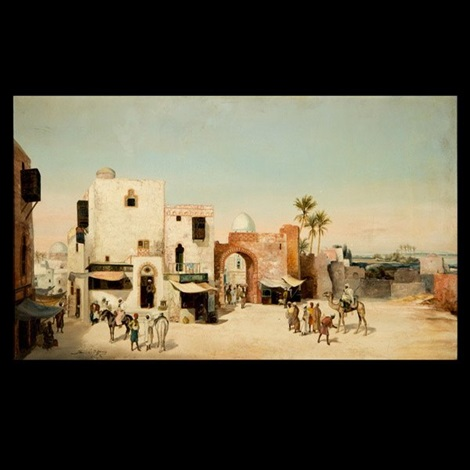 algerian scene by louis comfort tiffany