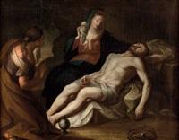 beweinung christi mit maria magdalena by michael koeck