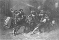 le duel des mousquetaires by lucien alphonse gros