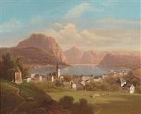 view of gmunden by ferdinand lepie