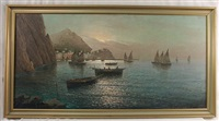 fishing port coast of capri by vincenzo d' auria